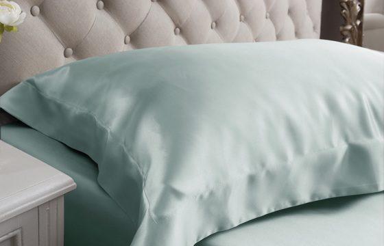 duck egg silk pillowcase at jasmine silk