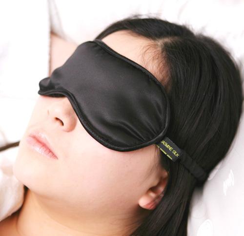 black silk eye mask