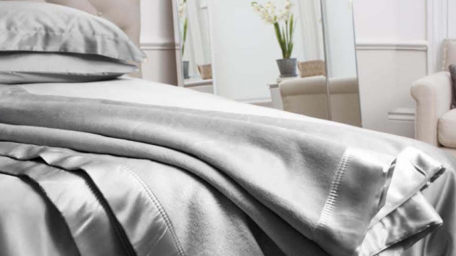 grey silk blanket