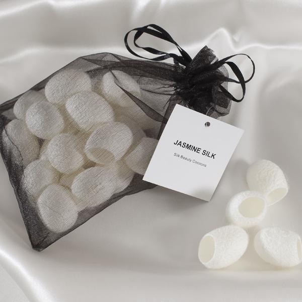 Silk beauty cocoons from Jasmine Silk