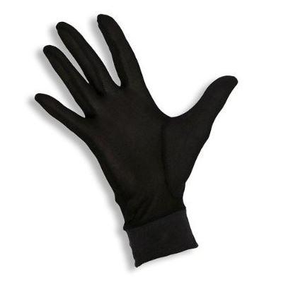 black silk glove liner