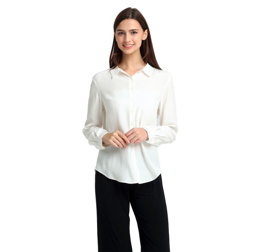 ivory silk shirt
