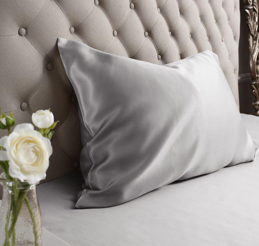 grey silk pillowcase