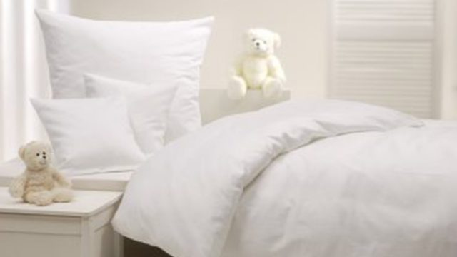 white silk bedding